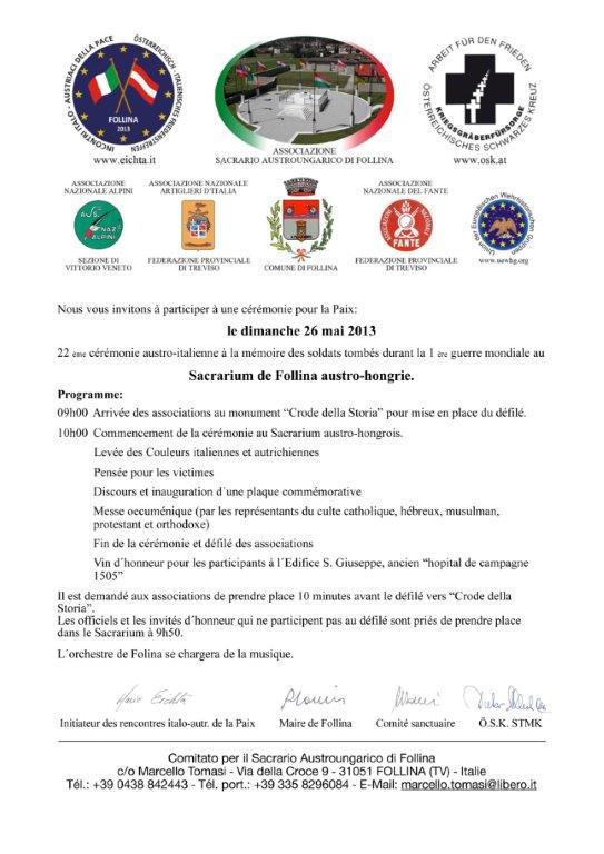 Invito 26 maggio 2013 francese